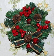 New Year's Gift,Holiday,Red,Corollaceous, Colorlliform,,Green,,Fir-(tree), Spruce-(fir),Cone,