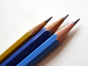 ,Pencils,Alizarin Blue,Yellow,Rule,Drawing