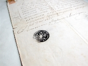 Ancient,Document Sheet,Ring,,Manuscript,Space Suppression,Paper,Ink,Calligraphy,სლავური დამწერლობა