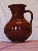 Jug, Pitcher,Vessel,Dark-brown, Coffee-coloured,China, Porcelain,,Clay