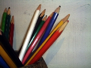 Pencil,Pencils,White,Red,Yellow,Alizarin Blue,,Colored