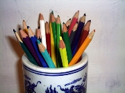 ,Pencil,Pencils,White,Red,Yellow,Alizarin Blue,,Colored
