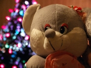 Doll,,Colored,Mouse,New Years Day,New Year's Gift,Interior,In Order To Play,Grey,Serial,Gray